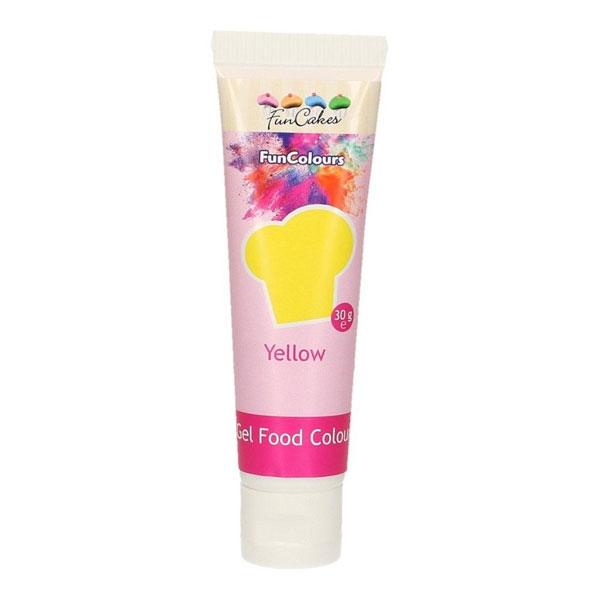 FunCakes Edible FunColours Gel - Yellow