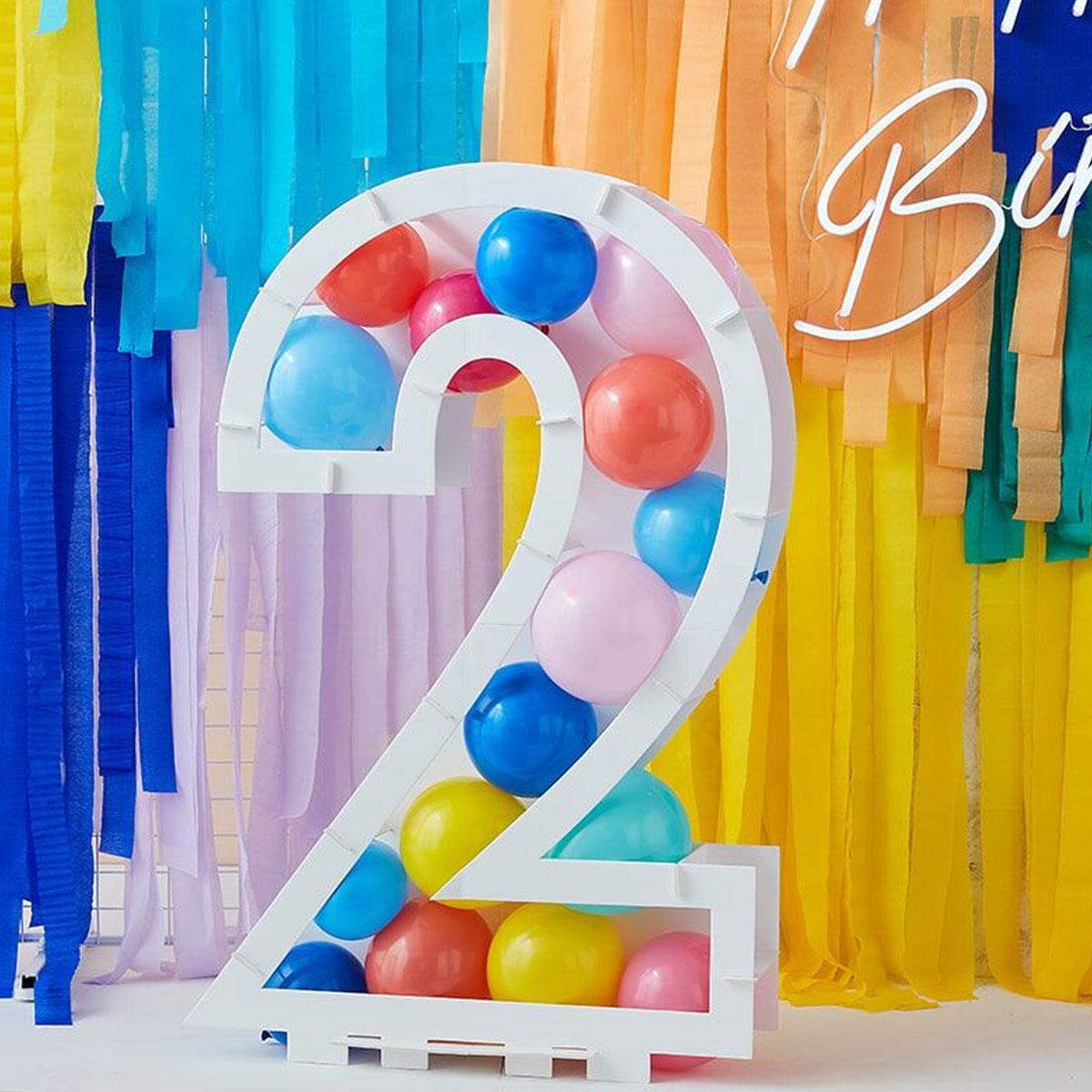 Zahlenständer mit Luftballons Nr.2 - Bunt