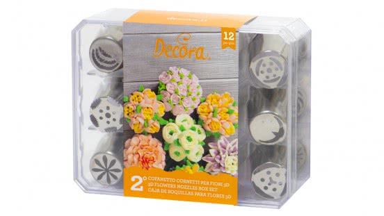 Decora 3D Blumentüllenset 12 Stück No.2