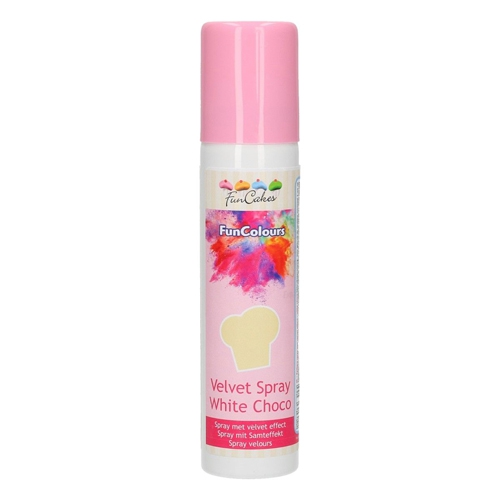 Funcakes Velvet Spray - Samtspray - White Choco 100ml
