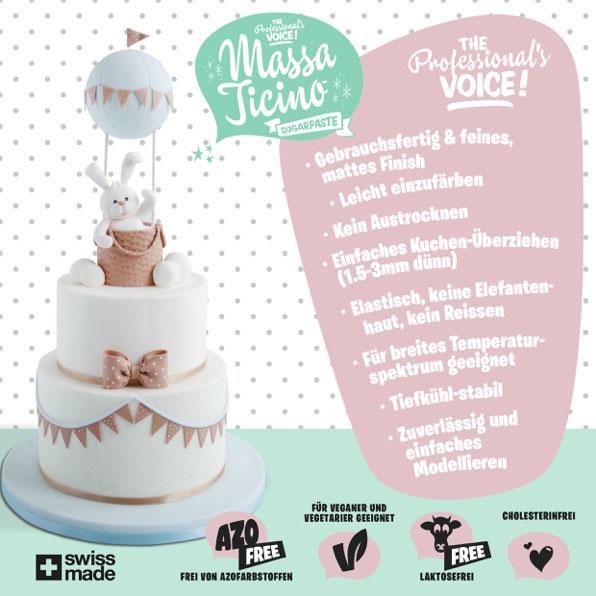 2 x 1 Kg Massa Ticino Tropic Rollfondant –  Bride White