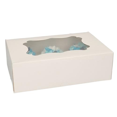 Funcakes Cupcake-Schachtel 6er Weiß - 3 Stück