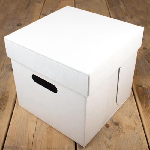 FunCakes Transportbox - Weiß 25 x 25 x 25cm