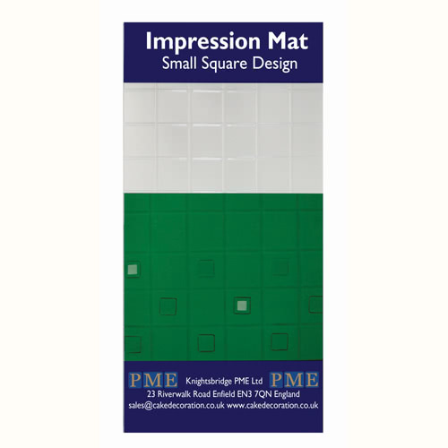 PME Prägematte small Square Design - kleine Quadrate