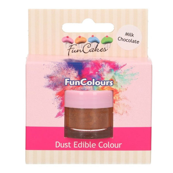 Funcakes Edible FunColours Dust - Milk Chocolate