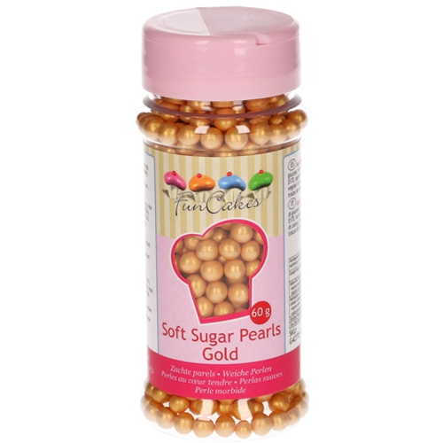 FunCakes weiche Zuckerperlen Gold