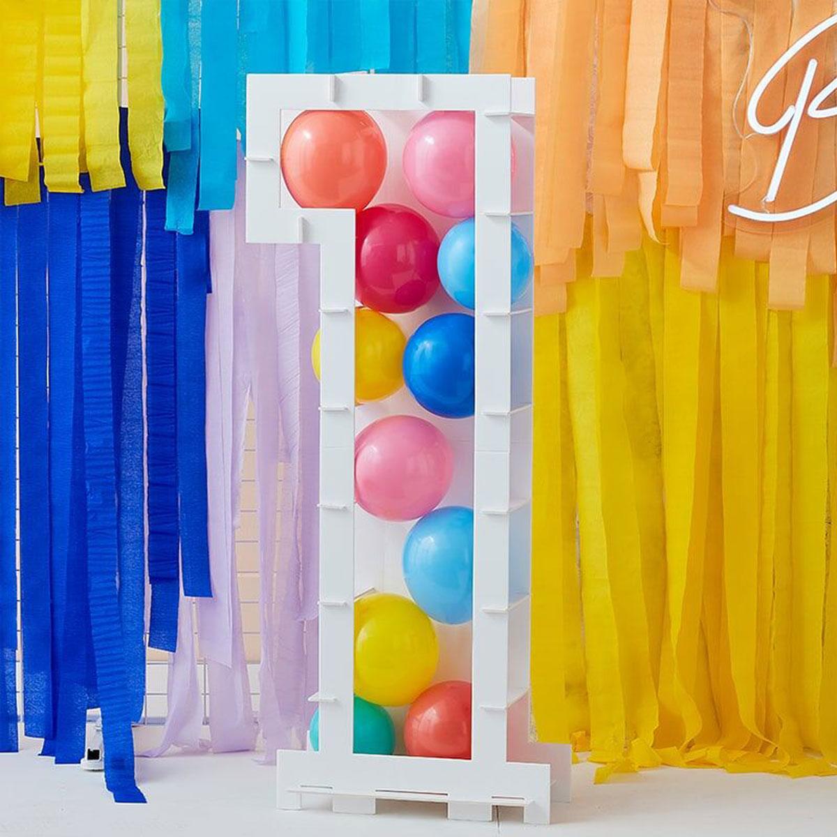 Zahlenständer mit Luftballons Nr.1 - Bunt