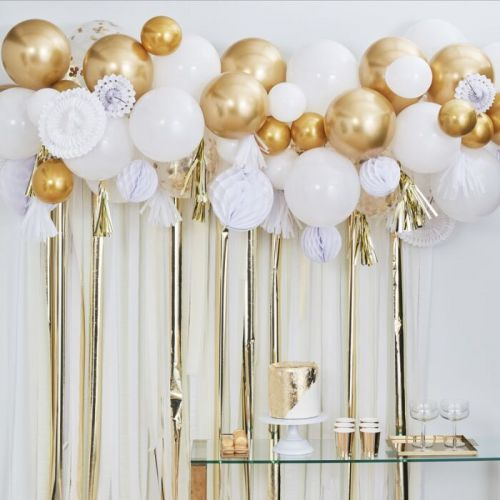 Ginger Ray Ballobogen / Ballongirlande Set Gold