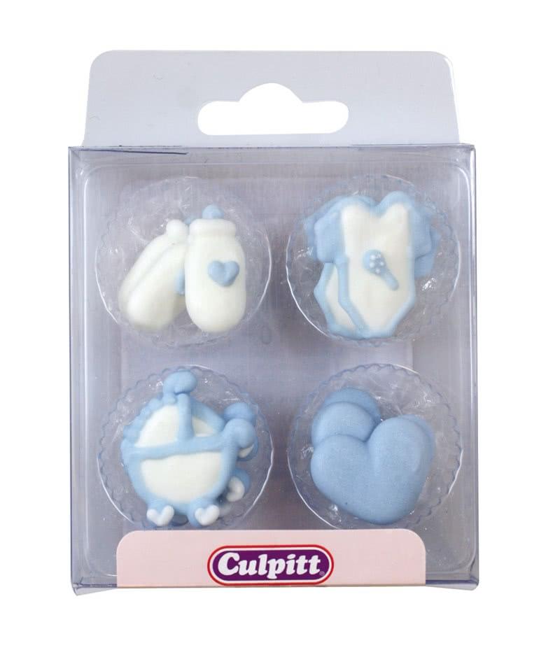Zuckerdeko Baby- Motive Blau 12 Stück
