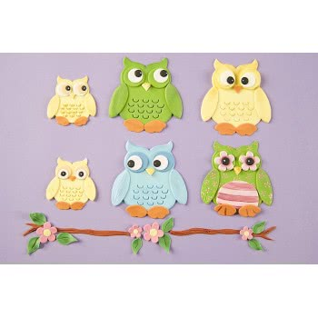 Patchwork Cutter Eule - Owl Set