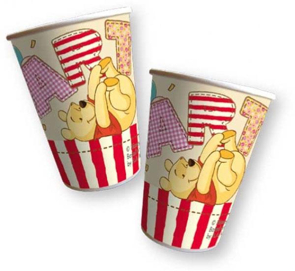 Papierbecher  Winnieh Pooh 8 Stück