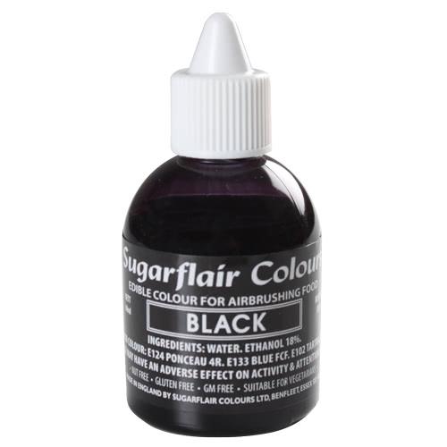 Sugarflair Airbrush Black 60ml