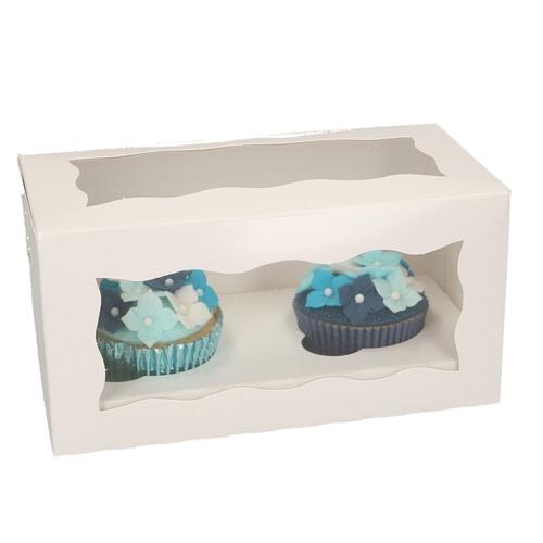 Funcakes Cupcake-Schachtel 2er Weiß - 5 Stück