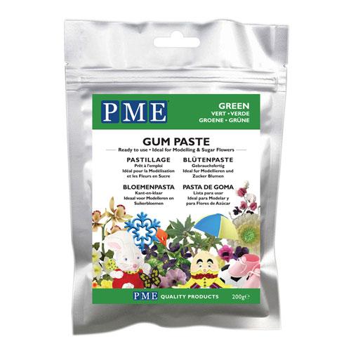MHD 7/21 PME Gum Paste - Blütenpaste Grün 200g