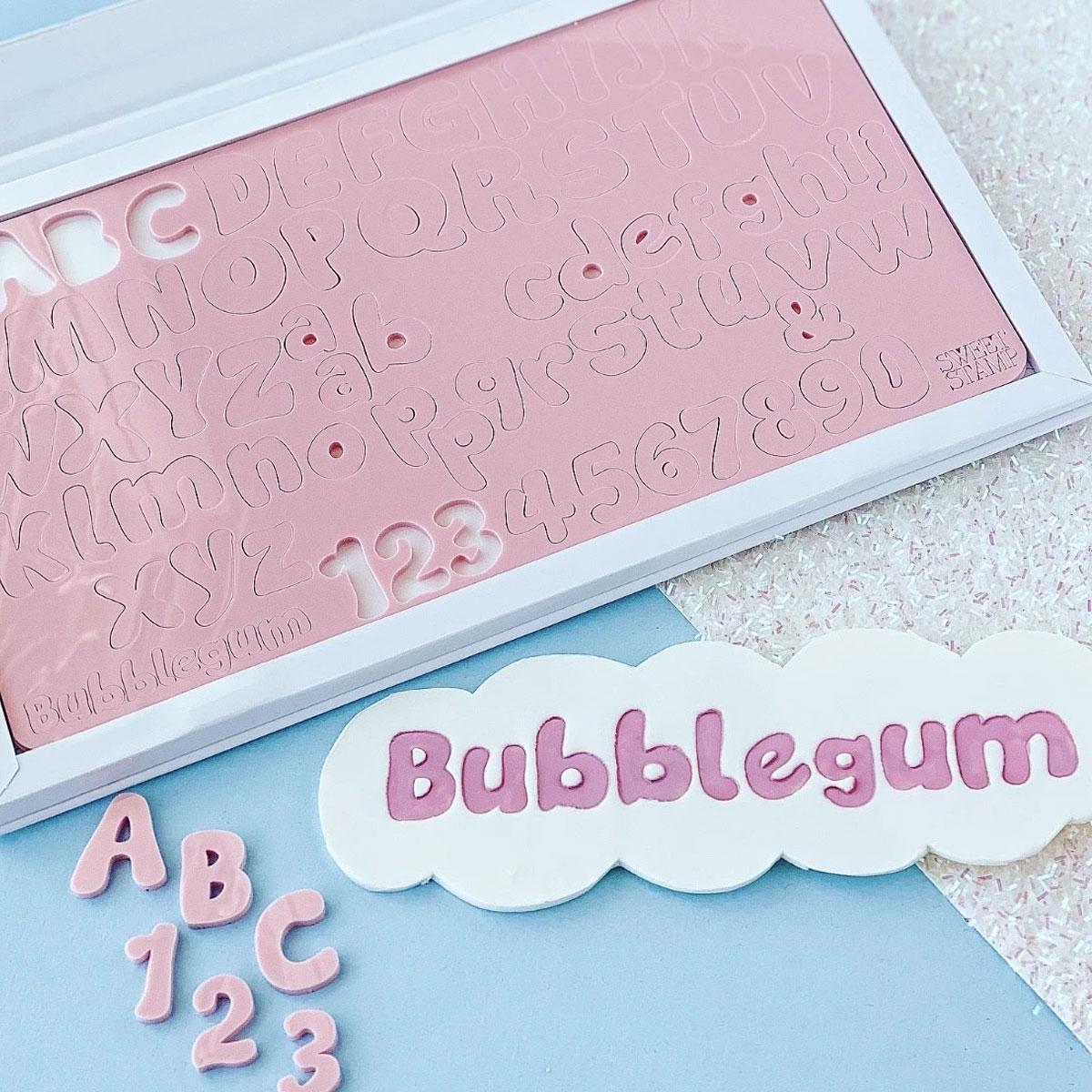 Sweet Stamp Bubblegum Prägeset - Buchstaben, Zahlen & Symbole