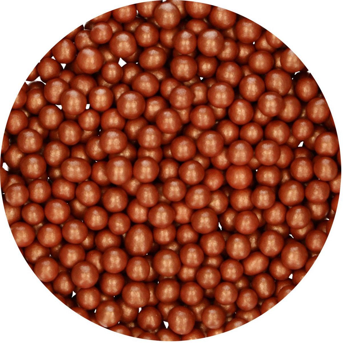FunCakes Candy Choco Pearls Medium Copper 80 g