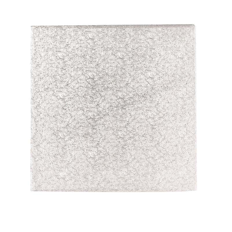 "Hardboard 8"" 20cm Quadrat Silber- 3mm dick"