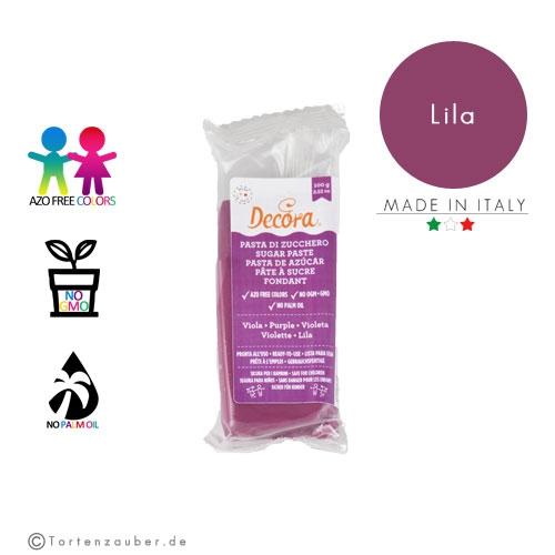 Decora Pasta di Zucchero - Fondant Lila 100g