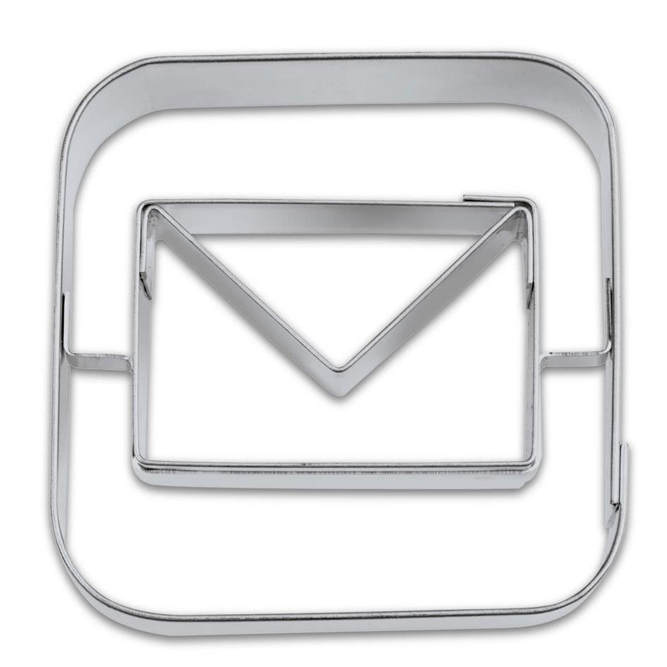 App Cutter Mail 5cm Edelstahl