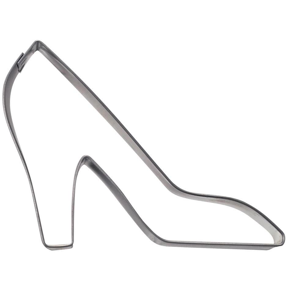 Ausstecher Damenschuh 10 cm Weißblech