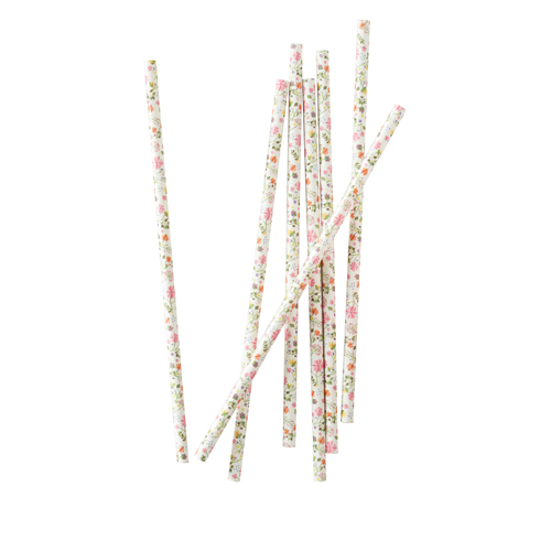 Ginger Ray Paper Straws - Strohhalm Floral
