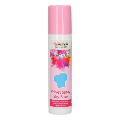 Funcakes Velvet Spray - Samtspray - Sky Blue 100ml