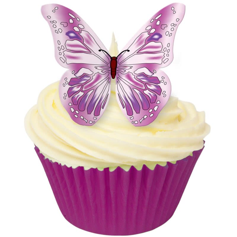 Esspapier Schmetterlinge - Pink Purple