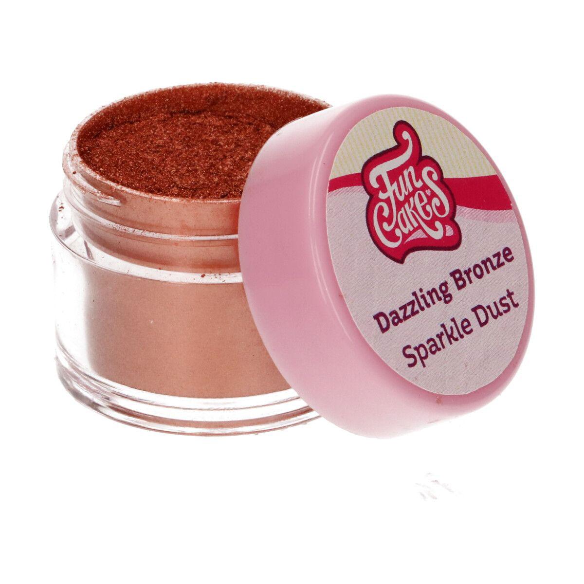Funcakes Edible Sparkle Dust - Dazzling Bronze