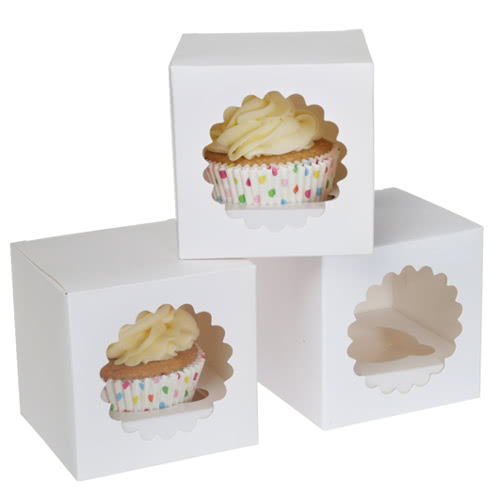 House of Marie Cup Cake Box 1 White 3 Stück