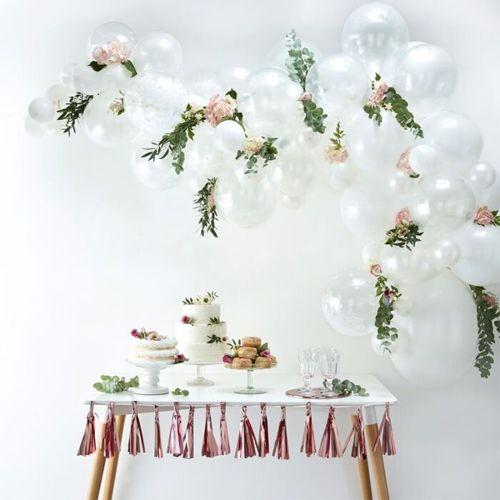 Ginger Ray Ballonbogen / Ballongirlande Set Weiß