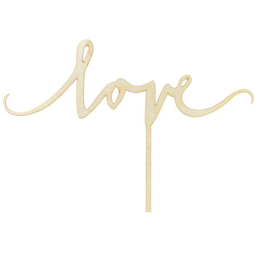 PartyDeco Cake Topper Love - Holz
