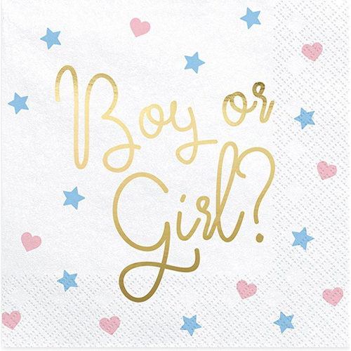 Gender Reveal Servietten - Boy or Girl?