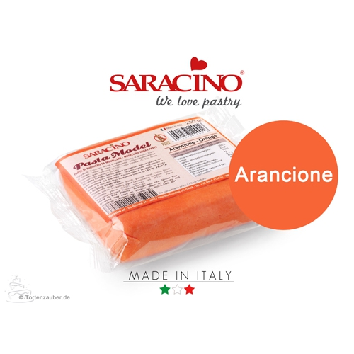 Saracino Modellierpaste - Orange 250g