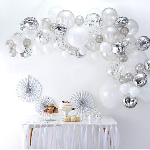 Ginger Ray Ballonbogen / Ballongirlande Set Silber