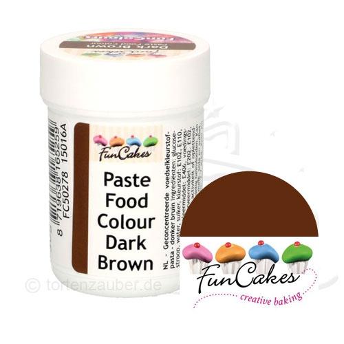 Funcakes Funcolours Pastenfarbe - Brown 30g