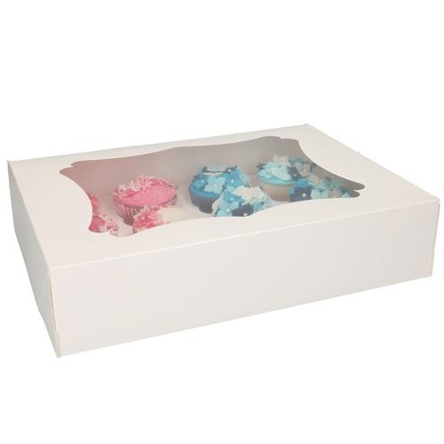 Funcakes Cupcake-Schachtel 12er Weiß - 3 Stück