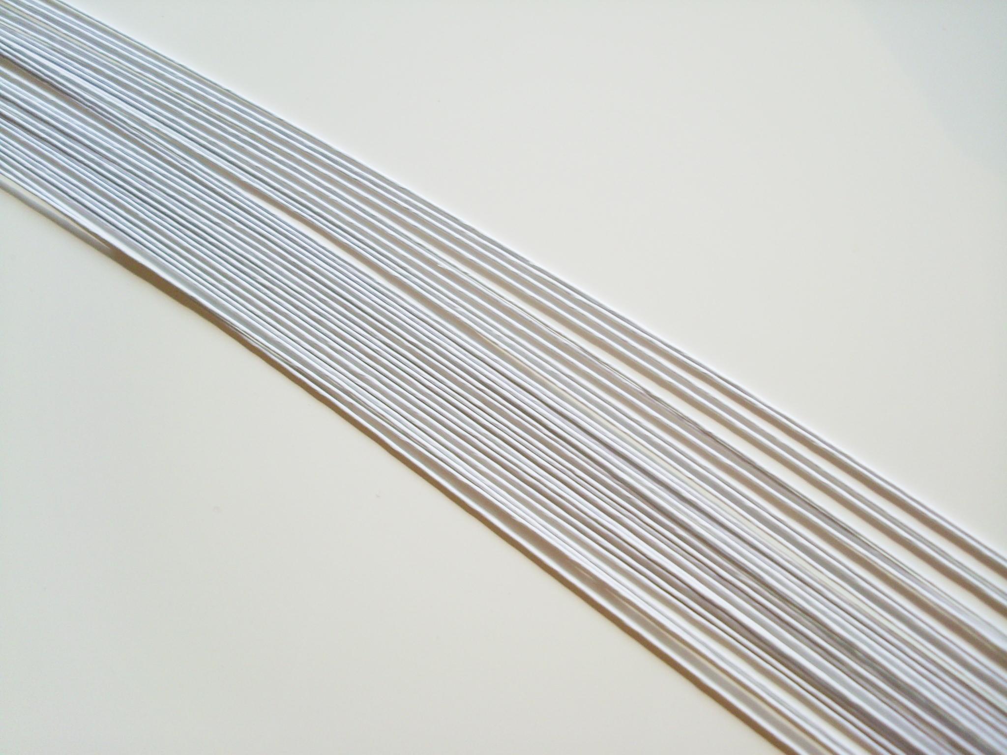 Blumendraht 18 gauge Weiß