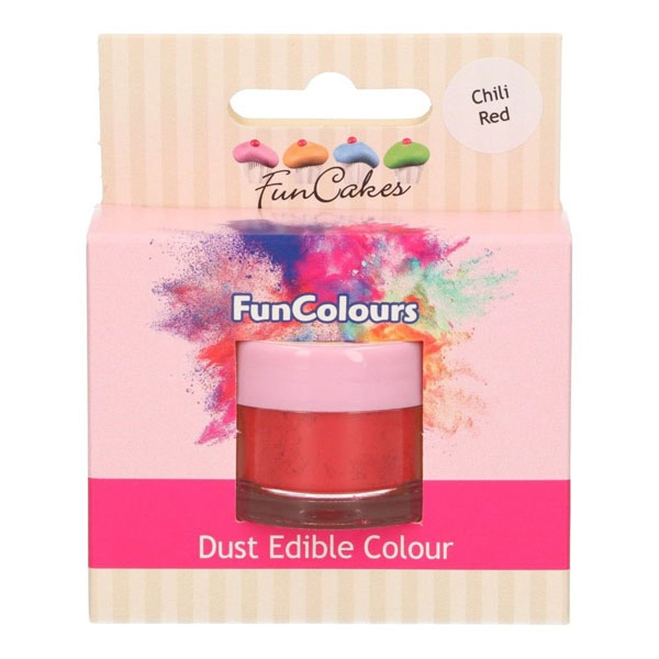Funcakes Edible FunColours Dust - Chili Red