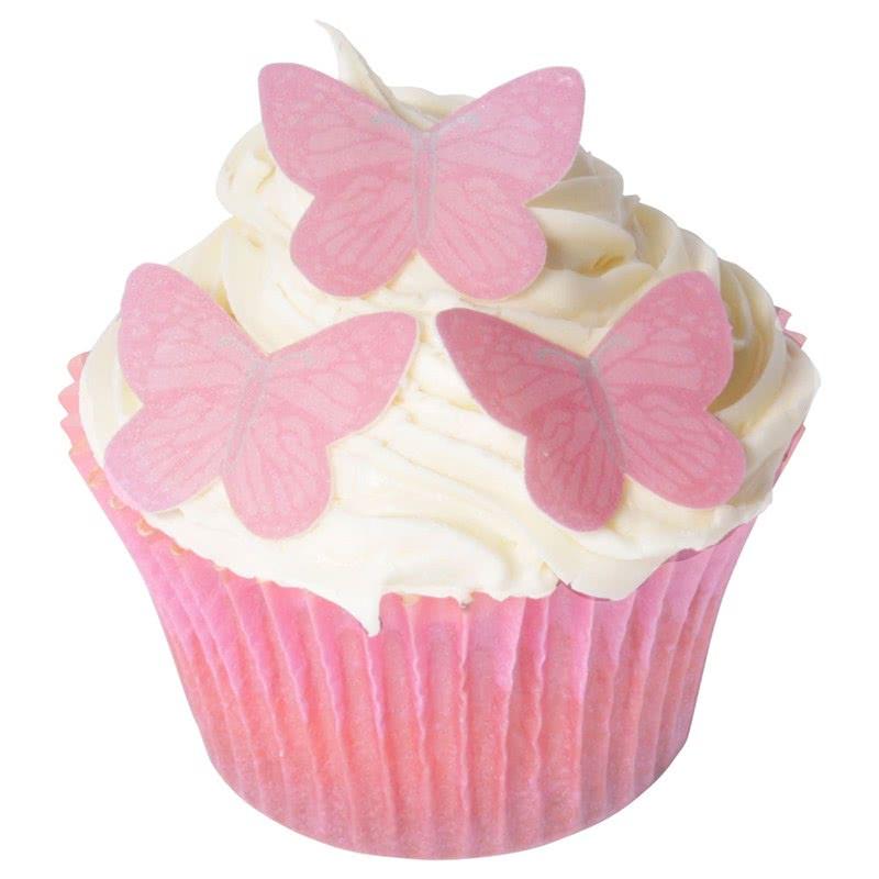Esspapier Schmetterlinge - small Pink 42 stück