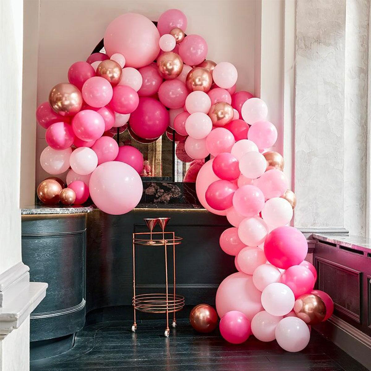 Ginger Ray Ballonbogen - Pink / Rosa Backdrop Kit