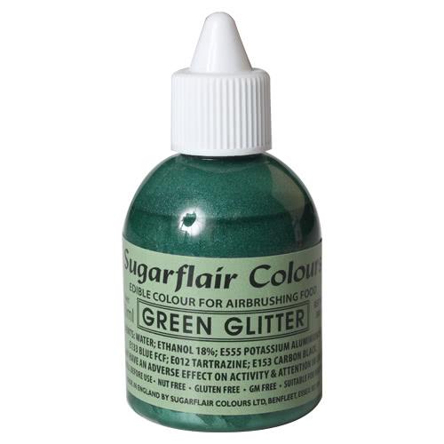 Sugarflair Airbrush Colouring - Glitter Green 60ml