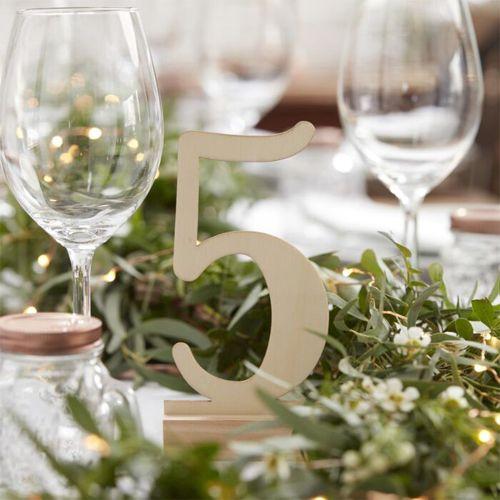 Ginger Ray Hochzeit Tischnummern aus Holz 1 - 12