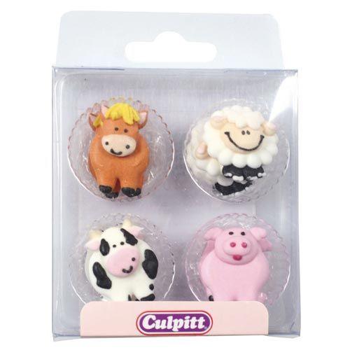 Culpitt Zuckerdekoration - Pferd, Schaf, Schwein und Kuh