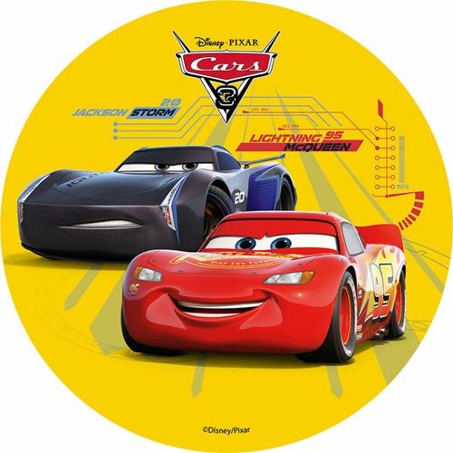 Tortenaufleger Esspapier  - Cars Motiv 1