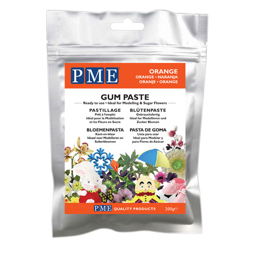 PME Gum Paste - Blütenpaste Orange 200g