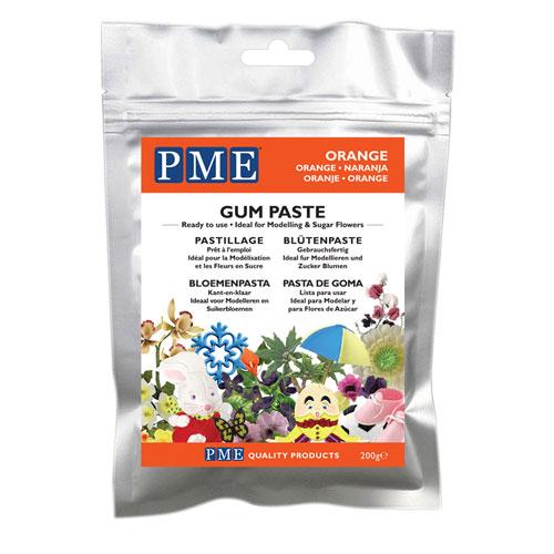 PME Gum Paste - Blütenpaste Orange 200g