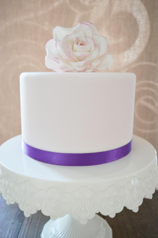 Tortenband Satinband Violett 15mm x 5m