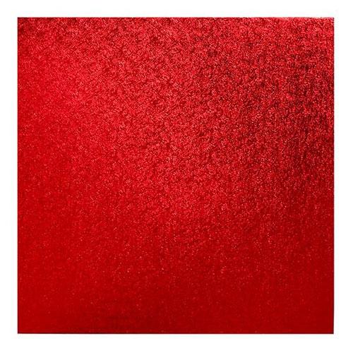 Cake Board Quadrat 30cm - Rot
