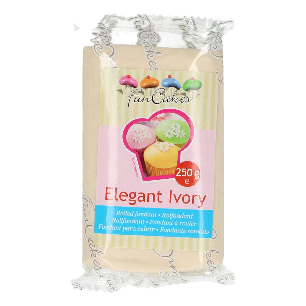 Funcakes Fondant Elfenbein - Elegant Ivory 250g