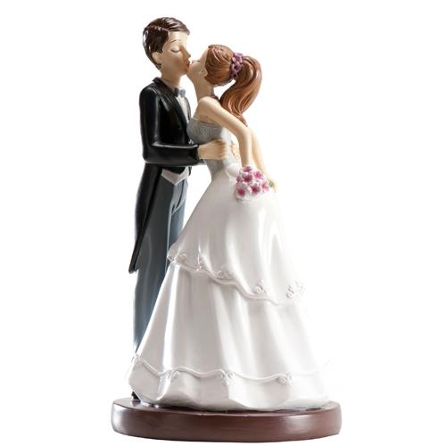 Dekorative Tortenfigur Hochzeitspaar - Kuss 16cm